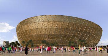 Tak będzie wyglądać złoty stadion w Lusail na Mistrzostwa Świata w Katarze