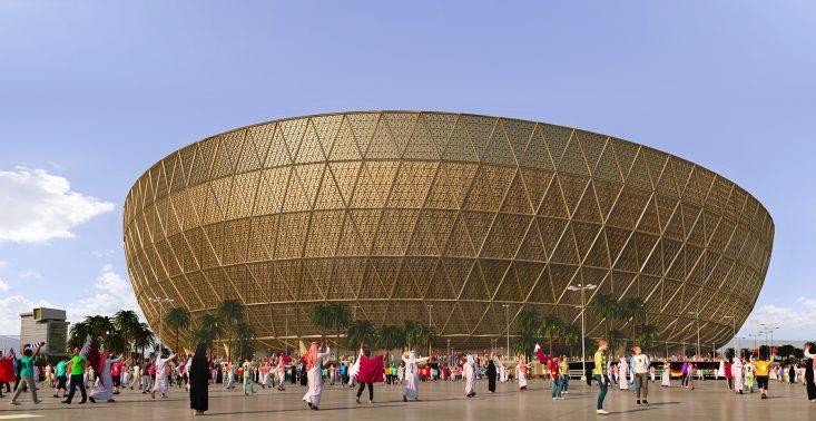 Tak będzie wyglądać złoty stadion w Lusail na Mistrzostwa Świata w Katarze<
