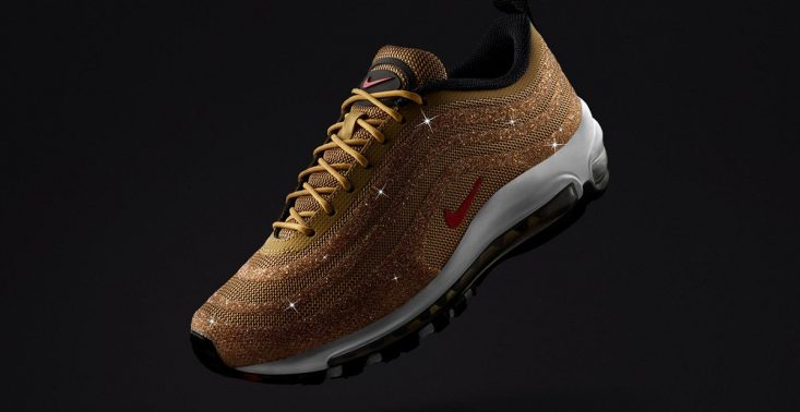 Nike wypuszcza edycję sneakers&oacute;w Swarovski x Air Max 97 LX &quot;Metallic Gold&quot;<
