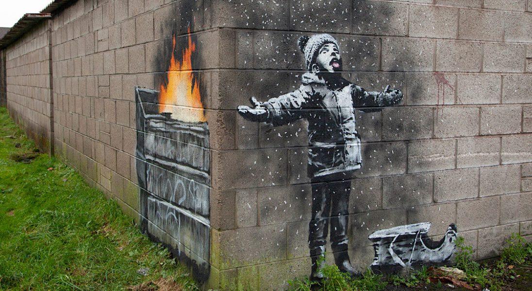 Banksy stworzył pracę o smogu. Znalazła się w najbardziej zanieczyszczonym mieście
