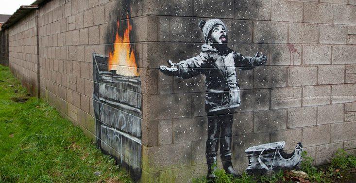 Banksy stworzył pracę o smogu. Znalazła się w najbardziej zanieczyszczonym mieście<