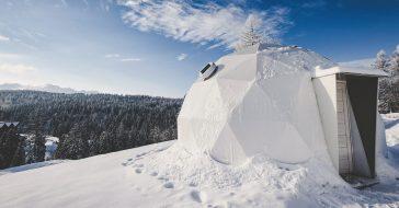Luksusowe biwakowanie z Tatrami w tle. Pojechaliśmy na zimowy glamping w Polsce