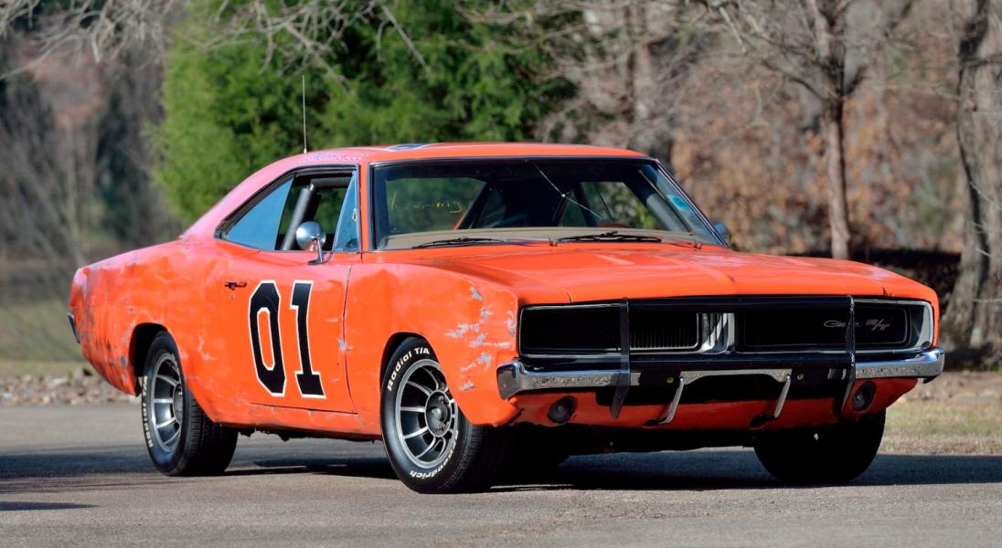 """Kultowy Dodge Charger znany jako ,,Generał Lee"""" z 1969 roku wystawiony na aukcję"""