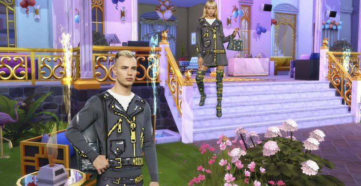 Moschino stworzyło kapsułową kolekcję inspirowaną grą The Sims<