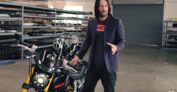 Keanu Reeves zaprezentował swoją niezwykłą kolekcję motocykli