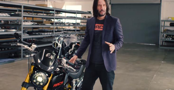 Keanu Reeves zaprezentował swoją niezwykłą kolekcję motocykli<