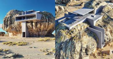 """Niepowtarzalny ,,dom w kamieniu"""" będący idealnym połączeniem natury i nowoczesnego designu"""