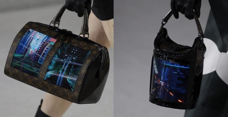 Louis Vuitton zaprezentował torebki z elastycznymi ekranami<