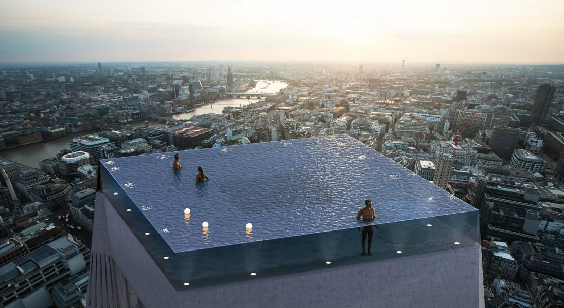 Na dachu wieżowca w Londynie pojawi się nietypowy basen bez krawędzi