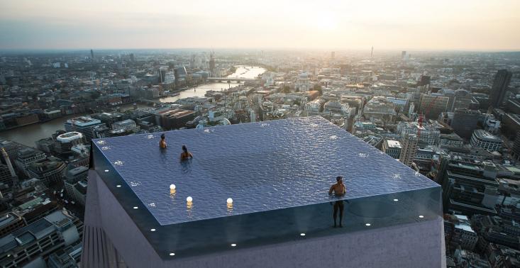 Na dachu wieżowca w Londynie pojawi się nietypowy basen bez krawędzi<