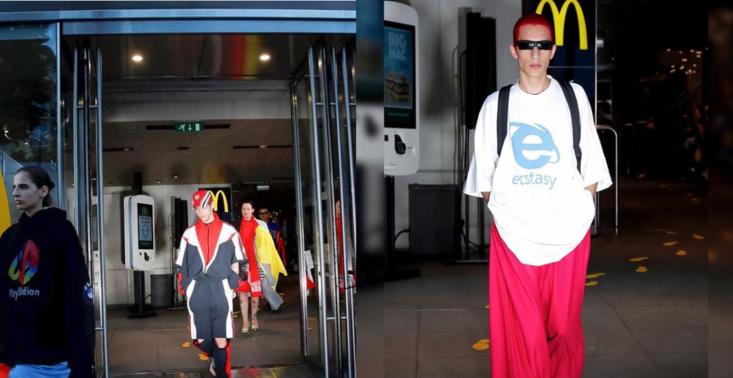 Modele i modelki jako pracownicy sieci McDonald's, czyli nowy pokaz Vetements<