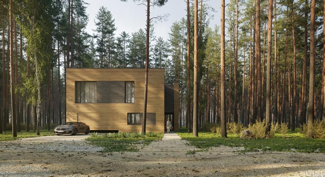 Dom Pień – minimalistyczny projekt ukryty w lesie