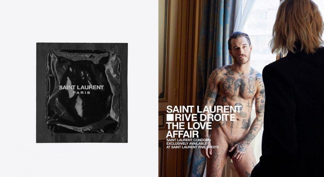 Saint Laurent wprowadza do sprzedaży prezerwatywy – promuje je Anja Rubik