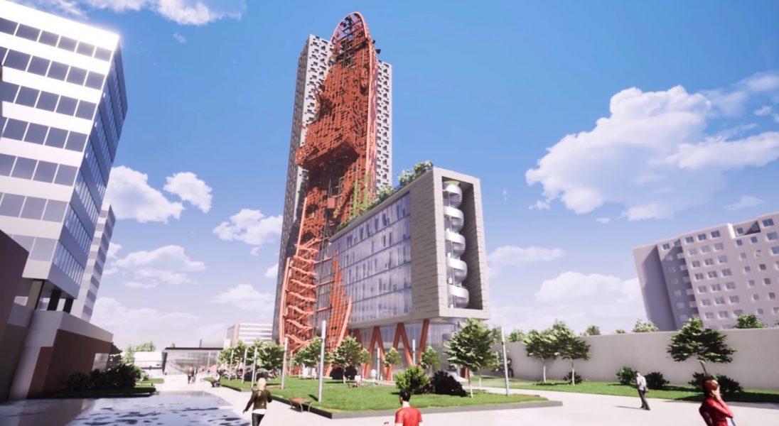 W Czechach powstanie niezwykły budynek, który będzie połączeniem wieżowca z wrakiem statku