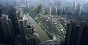 Niesamowita, porośnięta roślinnością galeria handlowa w Szanghaju