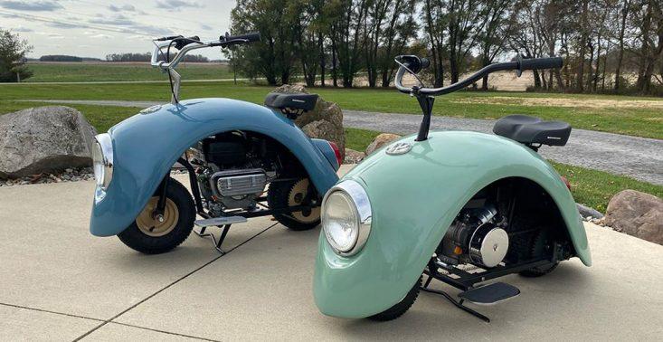 Tak wygląda Volkswagen Beetle przerobiony na mini-motocykl<