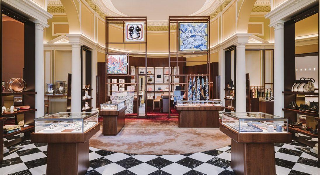 Tak wygląda wnętrze warszawskiego butiku domu mody Hermès