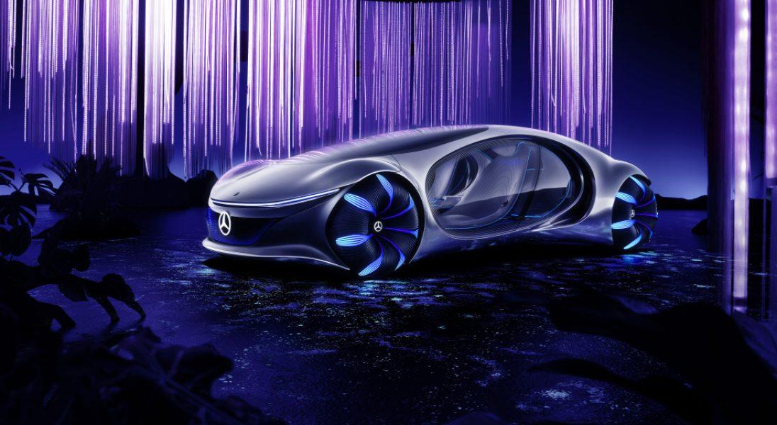 """Mercedes-Benz zaprezentował futurystyczne auto inspirowane filmem ,,Avatar"""""""
