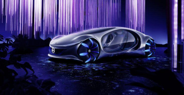 """Mercedes-Benz zaprezentował futurystyczne auto inspirowane filmem ,,Avatar""""<"""