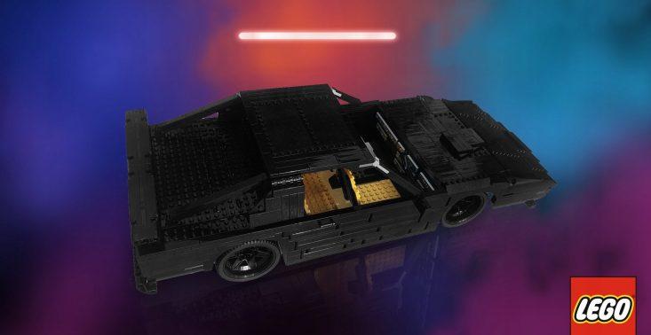 Na aukcję WOŚP trafiła replika samochodu KITT zbudowana z klocków LEGO przez braci Collins<