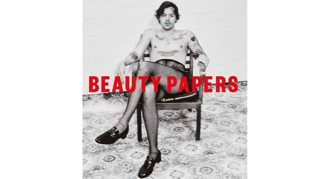 Harry Styles w kabaretkach pozuje na okładce magazynu Beauty Papers