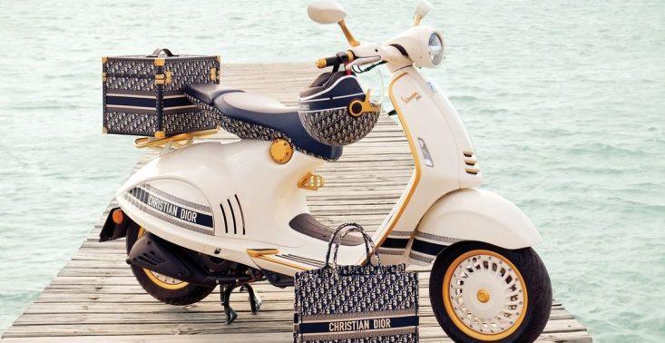 Dior i Vespa łączą siły i prezentują nowy, superstylowy skuter<