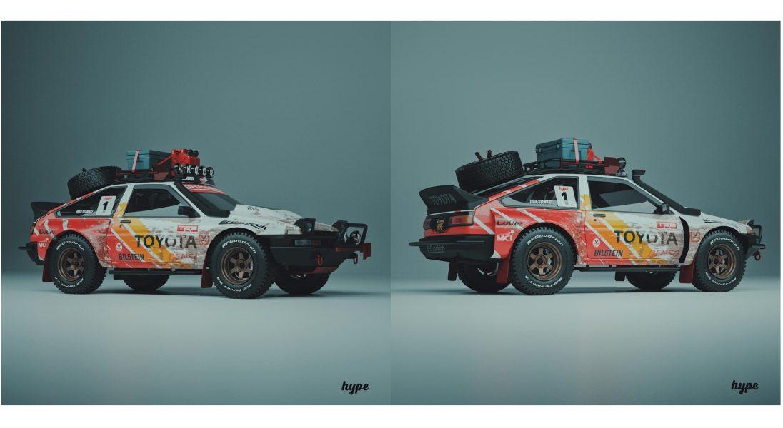 """Toyota AE86 ,,Pandemic"""" to niesamowity koncept auta, który sprawdziłby się podczas samotnych wypraw z dala od społeczeństwa"""