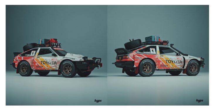 """Toyota AE86 ,,Pandemic"""" to niesamowity koncept auta, który sprawdziłby się podczas samotnych wypraw z dala od społeczeństwa<"""
