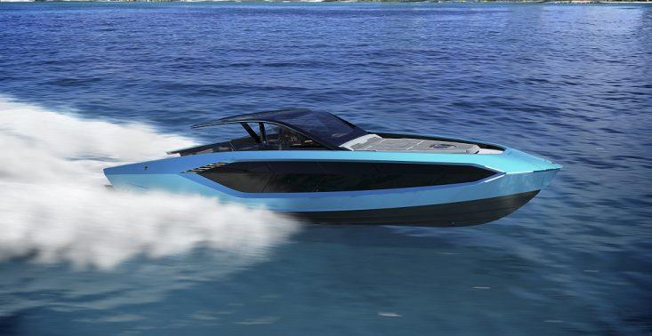 Oto jacht Tecnomar for Lamborghini 63, czyli innymi słowy – pływające lambo<