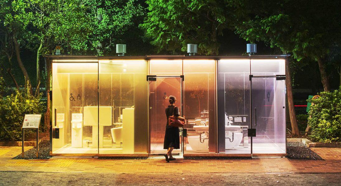 W Tokio publiczne toalety są przezroczyste
