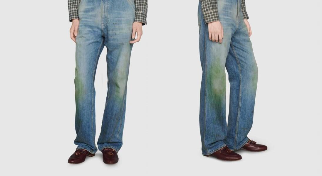 Gucci sprzedaje spodnie z plamami od trawy – kosztują 3 tys. złotych