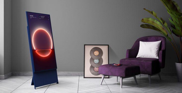 The Sero - pionowy telewizor stworzony do przeglądania treści ze smartfona<