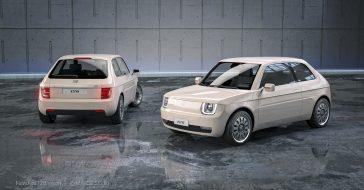 Oto Fiat 126 Vision, czyli nowoczesny Maluch z napędem elektrycznym