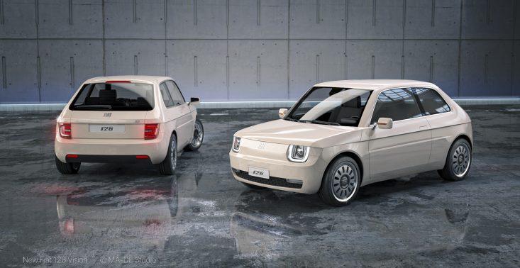 Oto Fiat 126 Vision, czyli nowoczesny Maluch z napędem elektrycznym<