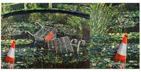"""Kolejna praca Banksy'ego sprzedana za gigantyczną sumę – chodzi o obraz ,,Show me the Monet"""""""