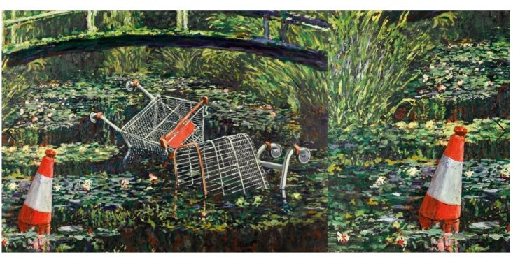 """Kolejna praca Banksy'ego sprzedana za gigantyczną sumę – chodzi o obraz ,,Show me the Monet""""<"""