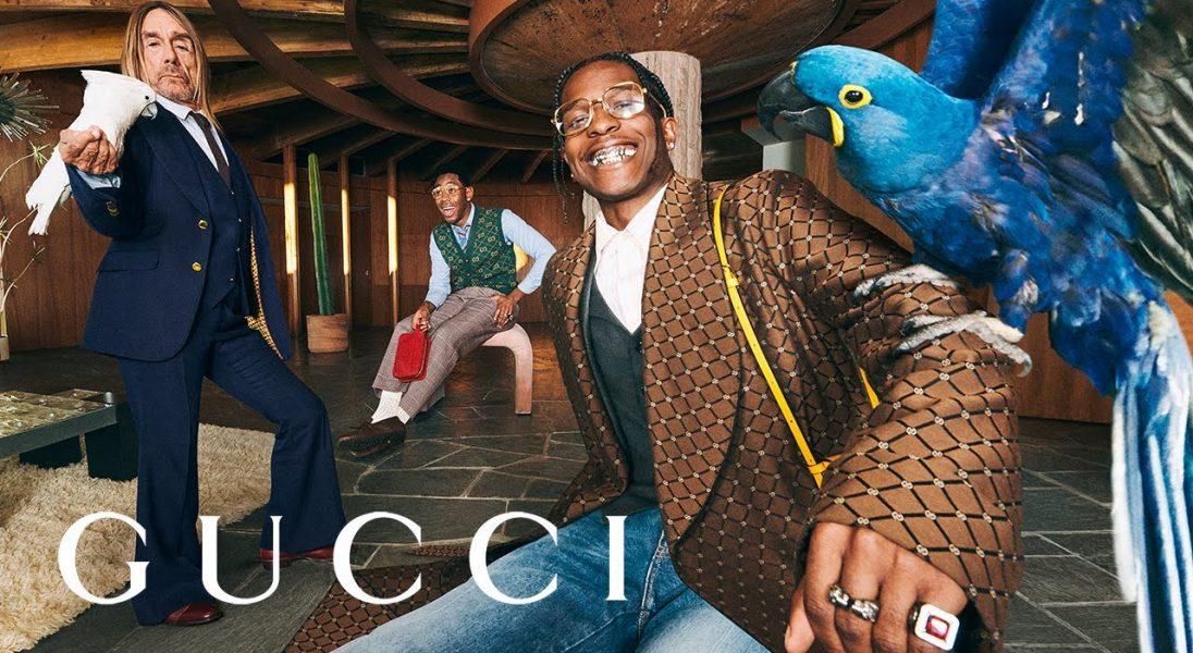 Tyler, the Creator, Iggy Pop i A$AP Rocky wspólnie imprezują w nowej kampanii Gucci