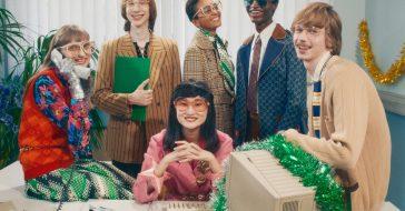 Gucci w świątecznej kampanii zabiera nas na firmową imprezę rodem z lat 90.