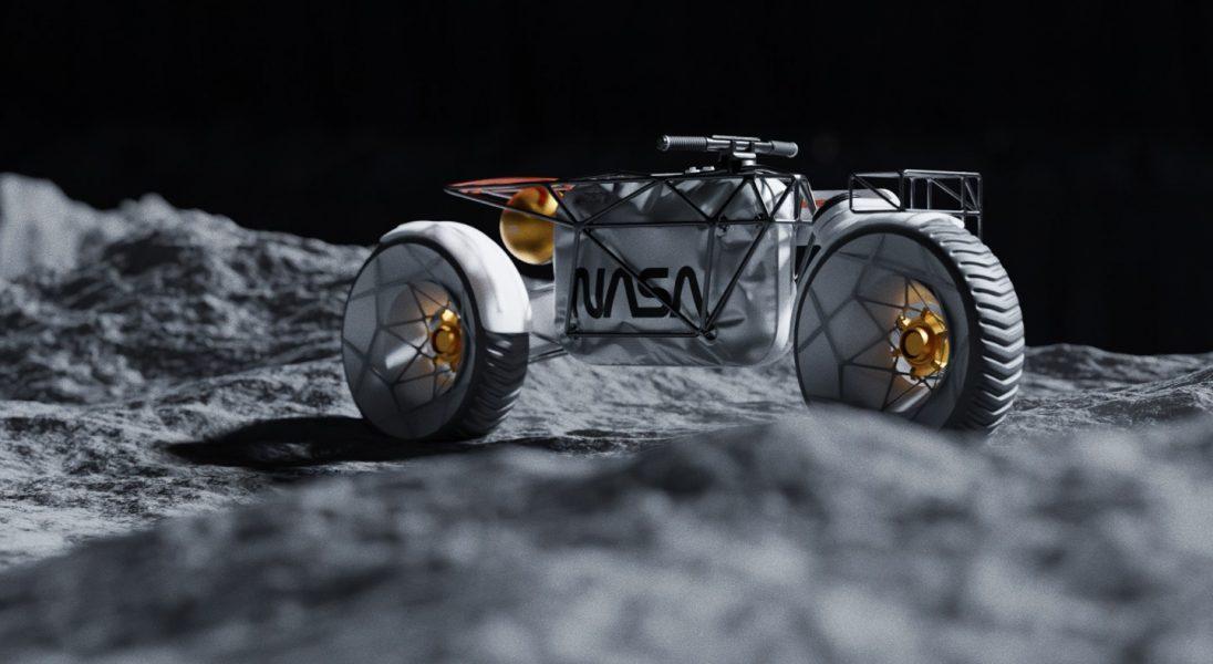 Czy tak będzie wyglądać motocykl, który będzie jeździć po księżycu?