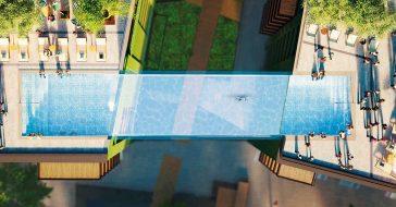 Powstaje przezroczysty basen umieszczony między dwoma budynkami – otwarcie w 2021 roku