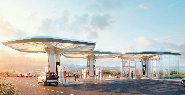 Oto futurystyczna i ultranowoczesna stacja ładowania samochodów elektrycznych<