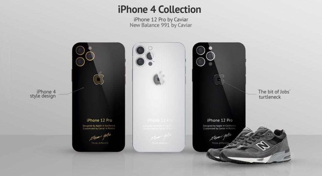 Firma Caviar wprowadza do sprzedaży iPhone'a 12 Pro z fragmentem golfu Steve'a Jobsa w logo
