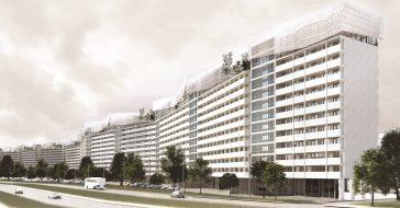 Ogród na dachu i luksusowe apartamenty – niesamowity pomysł na gdański falowiec studentki ASP