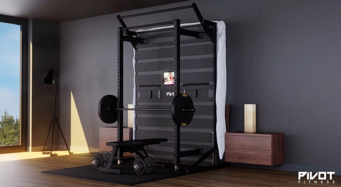 PIVOT Bed, czyli łóżko, które w prosty sposób zmienia się w… siłownię
