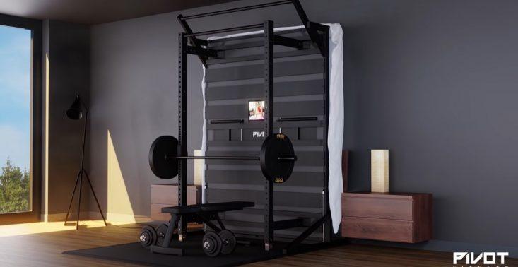 PIVOT Bed, czyli łóżko, które w prosty sposób zmienia się w… siłownię<