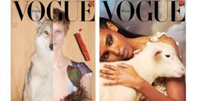 Na okładce styczniowej edycji Vogue Italia wystąpiły... zwierzęta