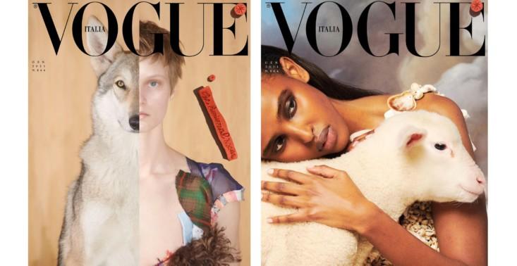 Na okładce styczniowej edycji Vogue Italia wystąpiły... zwierzęta<