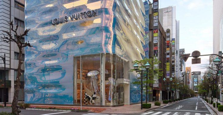 W Tokio pojawił się nowy, futurystyczny butik Louis Vuitton<