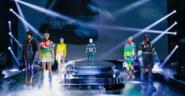 Roboty jako modelki na pokazie Dolce&Gabbana