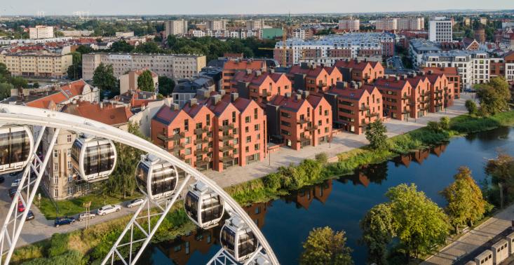Ekologiczna architektura w Polsce - gdańskie osiedle Riverview (APA Wojciechowski)<